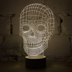 Bulbing Totenkopf LED-Leuchte mit 3D-Effekt   #halloween