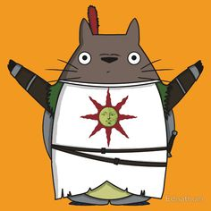 Totoro praise the sun by Ednathum