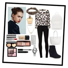 """""""winter outfit"""" by manakda on Polyvore featuring Vince Camuto, AG Adriano Goldschmied, Juicy Couture, BKE, Banana Republic, Nixon, Givenchy, NARS Cosmetics, Bobbi Brown Cosmetics and Hourglass Cosmetics"""