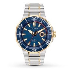 Citizen Men's Eco-Drive Endeavor Two-Tone Stainless Steel Bracelet Watch Brand Name Watches, Sport Watches, Watches For Men, Citizen Watch, Citizen Eco, Stainless Steel Watch, Stainless Steel Bracelet, Watch Sale, Casio Watch