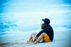 Couple on beach photoshoot