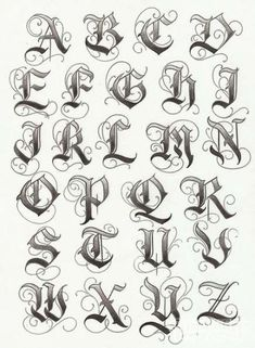 Tatto Ideas & Trends 2017 - DISCOVER lettering typographie calligraphie gothique majuscules Discovred by : Constance Dvllr Tattoo Lettering Alphabet, Tattoo Lettering Design, Tattoo Design Drawings, Calligraphy Alphabet, Graffiti Lettering, Calligraphy Fonts, Alphabet Fonts, Lettering Ideas, Gothic Lettering