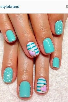 Teal Nail Designs 2014 First Show