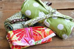 Roll-up Diaper Changer and 12 other sewing projects for baby or as great hand-made shower gifts!