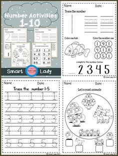 Inside you will find 18 FREE pages of number activities from 1 - 10  This product teaches students, recognizes numbers, counts and colors in a product that is fun for students to work on and learn so they can understand numbers quickly.