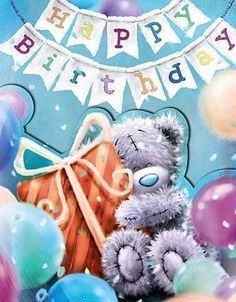 Tatty Teddy with Gift Me to You Bear Birthday Card Happy Birthday Pictures, Happy Birthday Quotes, Happy Birthday Greetings, Birthday Greeting Cards, Birthday Messages, It's Your Birthday, Bear Birthday, Happy Quotes, Tatty Teddy