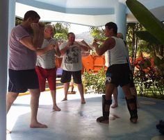 Work up a sweat during a kickboxing session at New Leaf Detox Resort  #KohSamui #weightlossactivities #healthretreats