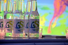The custom made soda bottles