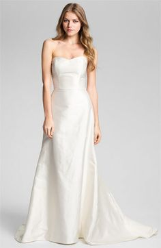 60464fc5f5f Women s Caroline Devillo  Elizabeth  Fluted Silk Dress Bridal Dresses