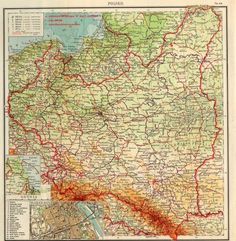 Poland 1938 map Poland History, Fantasy Map, Old Maps, Historical Maps, Family History, Genealogy, Planer, Vintage World Maps, Funny Pictures
