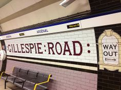 ARSENAL TUBE STATION | HIGHBURY | LONDON | ENGLAND: *London Underground: Piccadilly Line: Formerly named: Gillespie Road & Arsenal (Highbury Hill)*