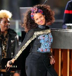 Alicia Keys performs a surprise concert in Times Square in New York City on Oct. 10, 2016.