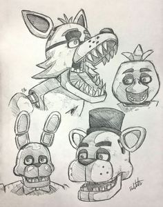 Foxy, Chica, Bonnie e Freddy