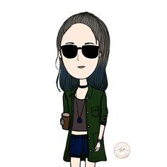 #handdrawing #cartoon #chic #girl #tnr # cute #hip #gal #girl #hipster #hippie #fashion #stylish #drawing #artwork #sketch #potrait #illustration
