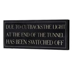 Cutbacks Wooden Wall Plaque --- Quick Info: Price £8.95 This black and ivory wall plaque is a great alternative piece of wall art for anyone with a sense of humour. --- Available from Roman at Home. Images Copyright www.romanathome.com