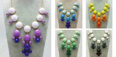 ombre bubble necklaces