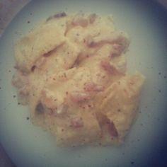Ravioloni alla carbonara con parmigiano reggiano