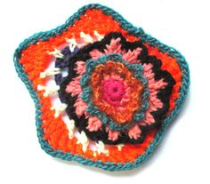 50 years of flower power - a freeform crochet and knit artwork: large or small...I love them all