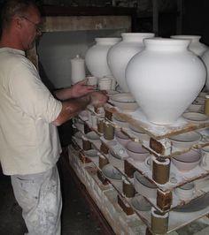 Packing a glaze firing