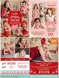 Valentine's Marketing Board Template – Photoshop Templates for Photographers, Photography Marketing Templates, Photo Card Templates, Album Templates & more! Valentine Mini Session, Valentine Picture, Valentines Day Photos, Photography Mini Sessions, Photo Sessions, Photography Ideas, Photography Services, Children Photography, Amazing Photography