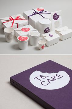 I'm seriously loving this identity job by Build for T&Cake. How perfect is the scalloped edge as if there is a bite out of the logo? Not to mention the type choice – so playful and perfect.