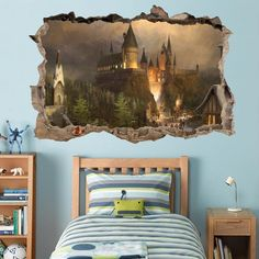 Hogwarts wall mural !!!  Harry Potter http://amzn.to/1VZnCD8