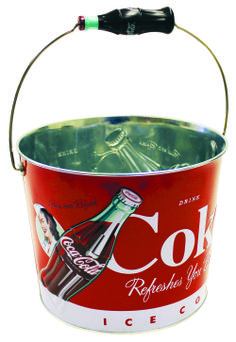 Coke Beverage Bucket , Rev up the fun with this fun Coke Beverage Bucket! Stylish metal bucket features great-looking vintage Coca-Cola graphics and advertising slogans embossed on front and back and measures in diameter Vintage Coca Cola, Pepsi, Coca Cola Store, Coke Drink, Drink Bucket, Coca Cola Decor, Coca Cola Christmas, Christmas Time, Advertising Slogans