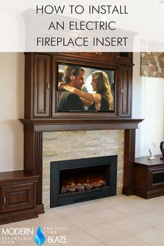 Modern Flames ZCR Series Electric Insert Fireplace for Great Room Build A Fireplace, Home Fireplace, Fireplace Remodel, Brick Fireplace, Fireplace Design, Fireplace Mantels, Mantles, Tv Over Fireplace, Simple Fireplace
