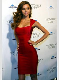 My girl crush Victoria's Secret Model Miranda Kerr looking amazing as always is this bodycon bandage dress #Sexydress