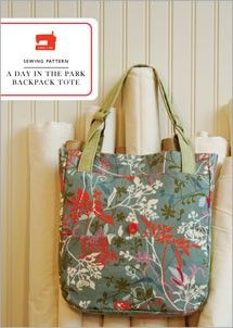 digital a day in the park backpack tote sewing pattern.  I love the idea that this could be both a backpack and a tote.