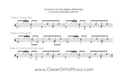Bolero jazz para Batería | Cuban Grooves for drumset (page 2)