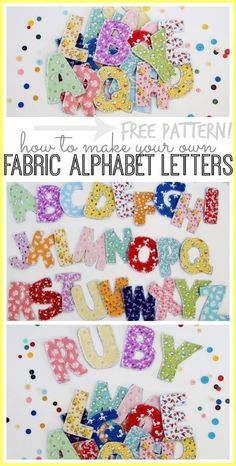 fabric alphabet letters with a how to tutorial and FREE pattern - - Sugar Bee Crafts