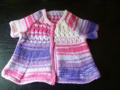 Handmade knitted baby girls multi coloured three by BulldogKnits