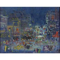 Jean Dufy - Paris, Montmartre, oil on canvas