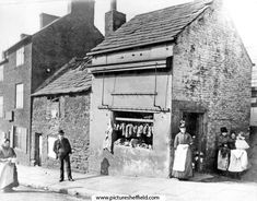 Butcher shop at 49 Pye Bank (later known as Pitsmoor Road), Pitsmoor Old Photos, Vintage Photos, Industrial Architecture, My Family History, Butcher Shop, South Yorkshire, Shop Fronts, Sheffield, Black History