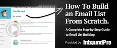 How to build an email list from scratch... This could be the most important post you read today... if you are not doing this, your online business will probably fail.