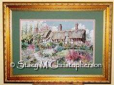 My finished Miss Hathaway's Garden.  This was stitched for my mother-in-law.  Pattern from Pegasus Originals.