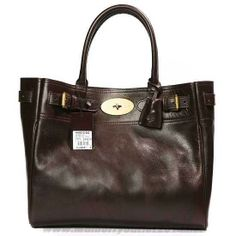 MK 2014 Womens Mulberry Bayswater Leather Toter Bag Dark Coffee Factory Outlet