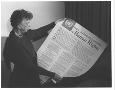 Eleanor Roosevelt and United Nations Universal Declaration of Human Rights, Lake Success, New York Item From: Franklin D. Roosevelt Library Photographs One of. Eleanor Roosevelt, Roosevelt Lake, Declaration Of Human Rights, Human Rights Day, Guinness, Organisation Des Nations Unies, Lake Success, Right To Education, Bill Of Rights