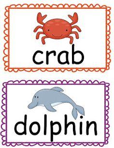 The Crazy Pre-K Classroom: Ocean Theme Read the Room Freebie!