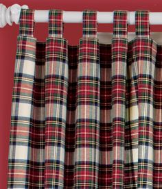 Another example of plaid curtains, here with a simple tab top. Wouldn't these be great in a boy's room?