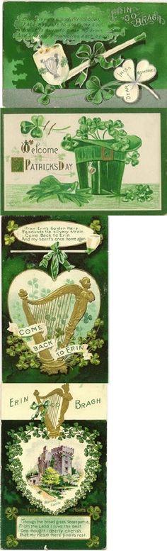 vintage st. pat's postcards