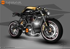 Mo2or CafeRacer Motorbike Concept
