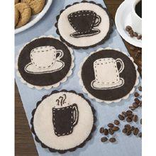 Coffee Cup Coasters  Felt Kit