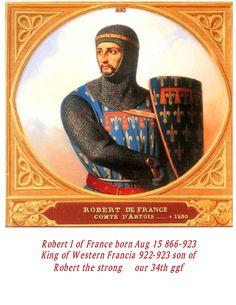 Robert I King of France born 865