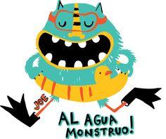 PupeilustraJoe Hopi - Pupeilustra Cute Monsters, Little Monsters, Monster Face, Summer Boy, Children's Book Illustration, Drawing For Kids, Baby Patterns, Kids And Parenting, Kids Outfits