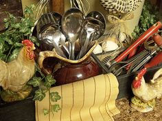 love using old boxes and drawers for vignettes