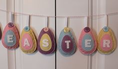 SALE : DIY Felt Easter Egg Ornament Kit. $18.00, via Etsy.