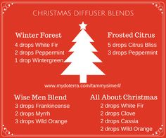 10 Essential Oils Blends For The Holidays | doTerra, Oil and ...