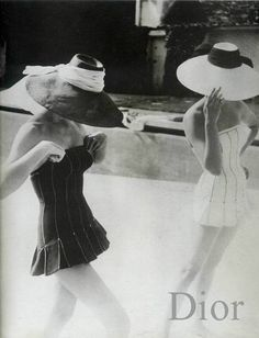 Dior swimsuits, photo by Henry Clarke, 1954.